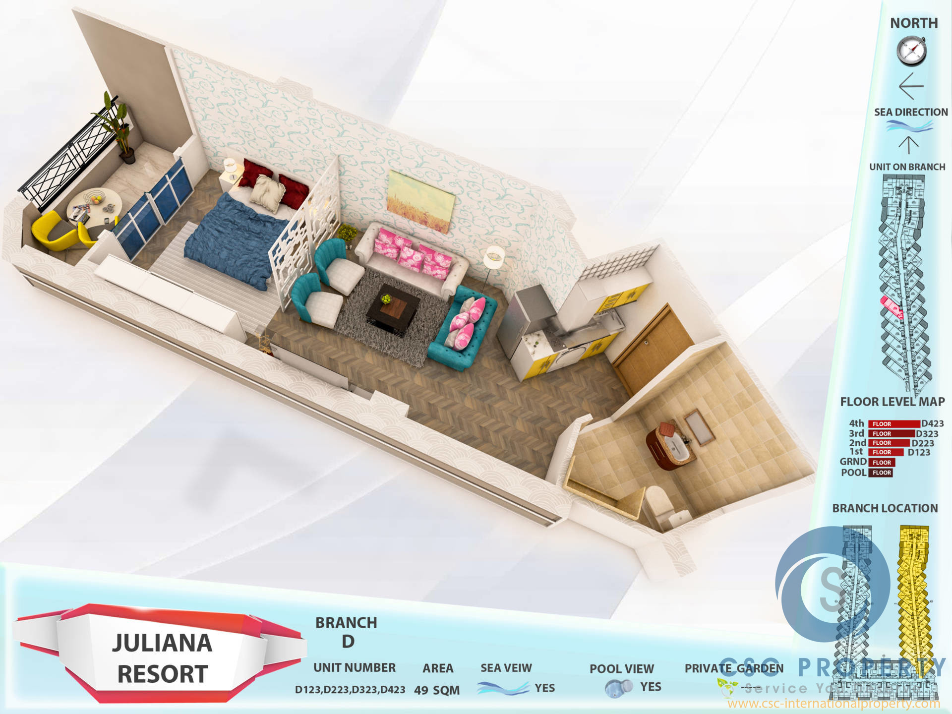 Offer – Studio pool view from 510000 EGP